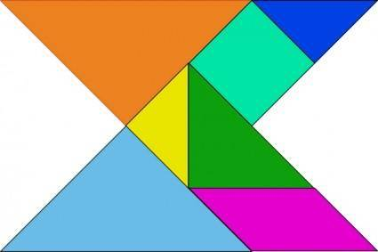 Tangram Blocks Asian Game clip art