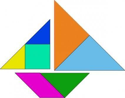 Tangram Asian Game clip art