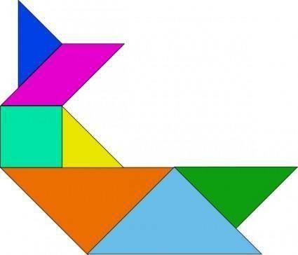 free vector Tangram-06 clip art