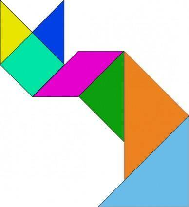 Tangram Game clip art
