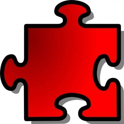 Jigsaw Red Piece clip art