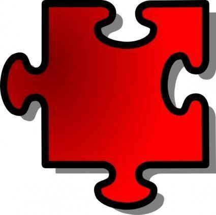 Jigsaw Red clip art