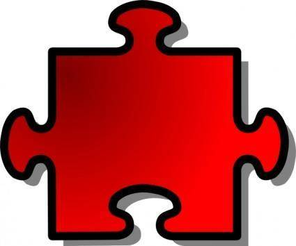 free vector Jigsaw Red 10 clip art