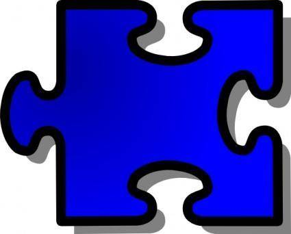 Jigsaw Red 10 clip art