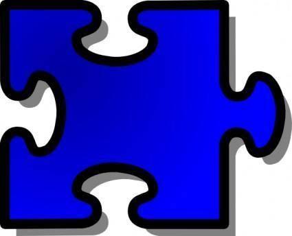 free vector Jigsaw Blue clip art
