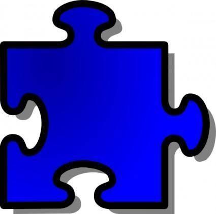 Jigsaw Blue Puzzle clip art