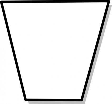 Trapezium Flowchart Symbol clip art