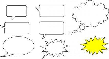 Svg Speech Bubbles clip art