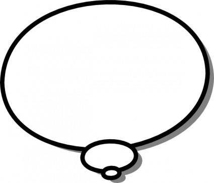 Ellipses Callout Thought Thinking clip art