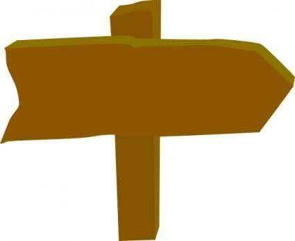 Wood Sign Post Direction clip art