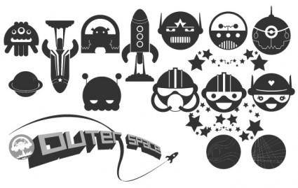 free vector Happy Space Vector Pack