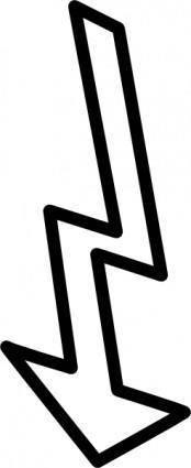 free vector Broken Down Arrow Outline clip art