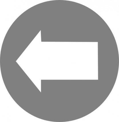 Left White Arrow In Circle clip art