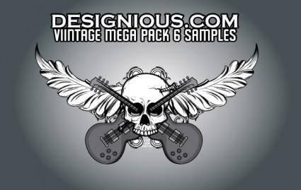 free vector Vintage Mega Pack 6 free samples