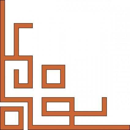 free vector Orleans_express_lower_left_corner clip art