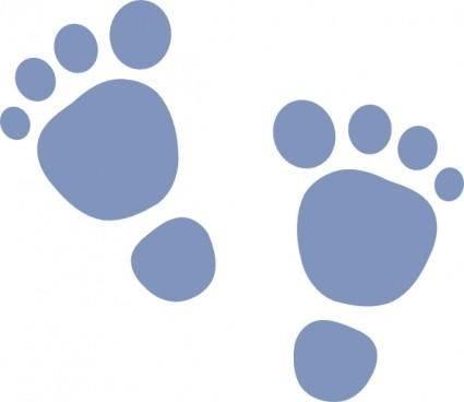 free vector H_foot_print clip art