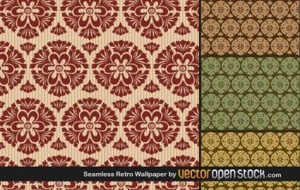 free vector Seamless Retro Wallpaper