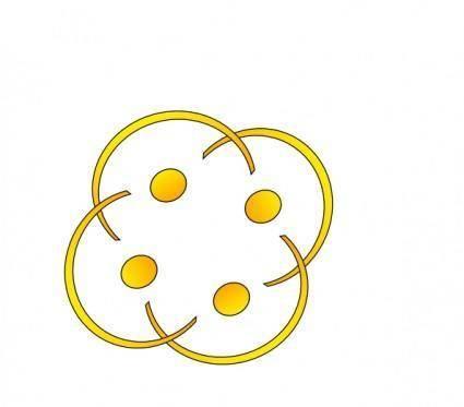 free vector Golden Hug clip art