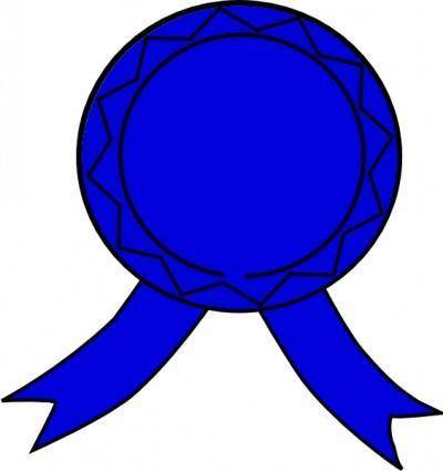 free vector Blue Badge clip art