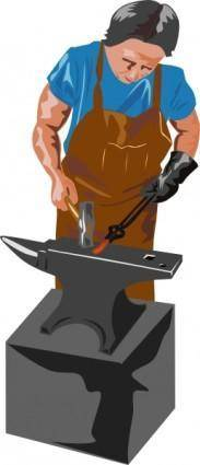 free vector Blacksmith Working clip art