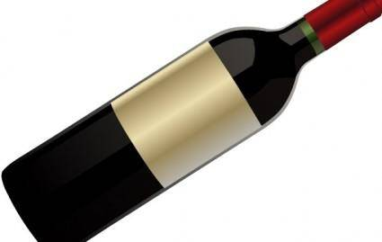 free vector Red wine bottle