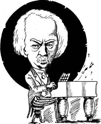 Ignacy Jan Paderewski clip art