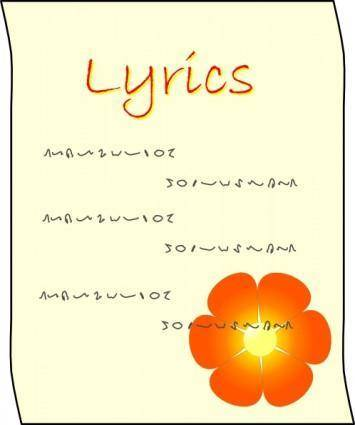 free vector Lyrics clip art