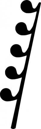 free vector Th Rest Music Note clip art