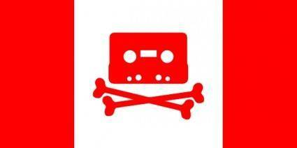 Canadian Music Pirate Flag clip art