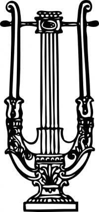 free vector Decorative Lyre clip art
