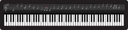Organ Keyboard clip art