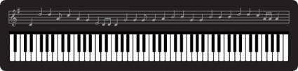 free vector Organ Keyboard clip art