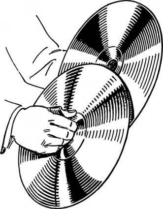 Cymbals clip art
