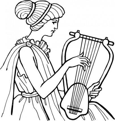Lyre Musical Instrument clip art