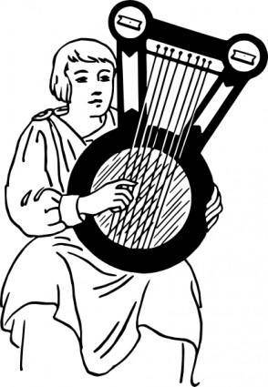 Psaltery Musical Instrument clip art