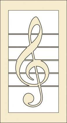Violin Key clip art
