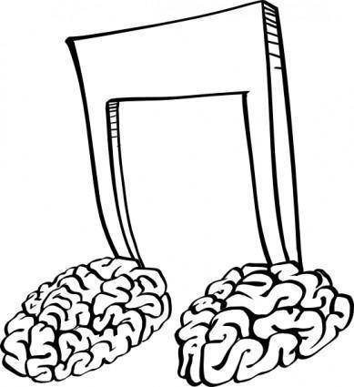 free vector Brain Notes  clip art