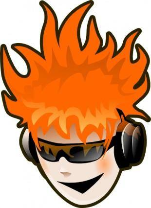 free vector Listen To Music clip art
