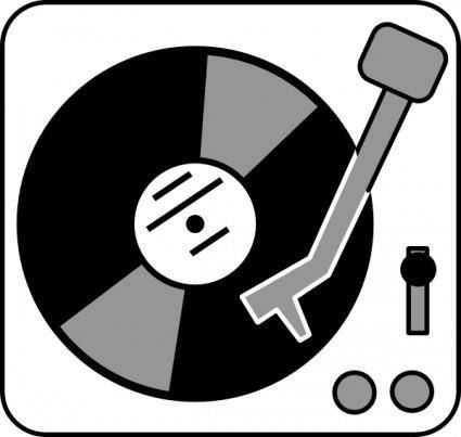 Aj Simple Turntable clip art