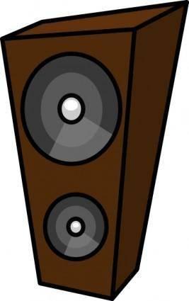 free vector Cartoon Speaker clip art