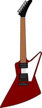 Gibson Explorer Guitar clip art