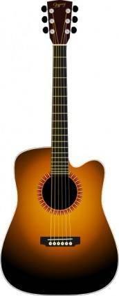 free vector Unplugged Guitar clip art