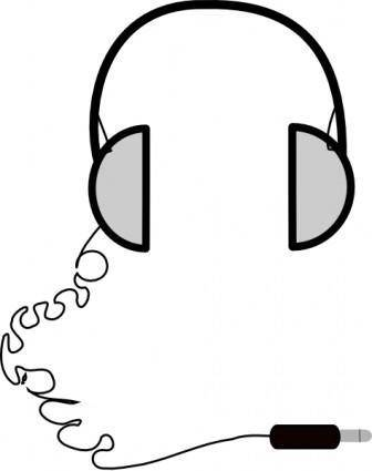 Headphones Simple clip art