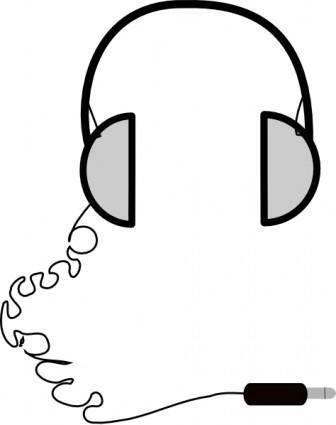 Headphones Simple clip art