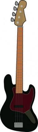 free vector Jazz Bass Guitar clip art