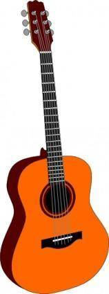 free vector Guitar Colored clip art