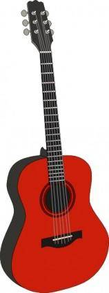Red Guitar clip art
