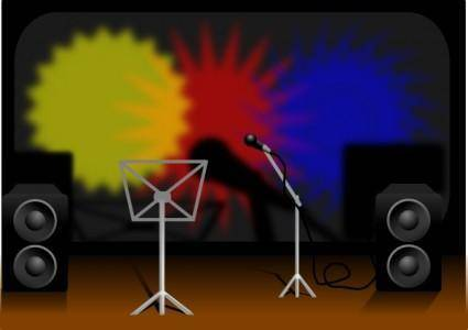 Music Stage clip art