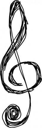 free vector Treble Clefs clip art