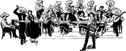 Orchestra Tipica clip art
